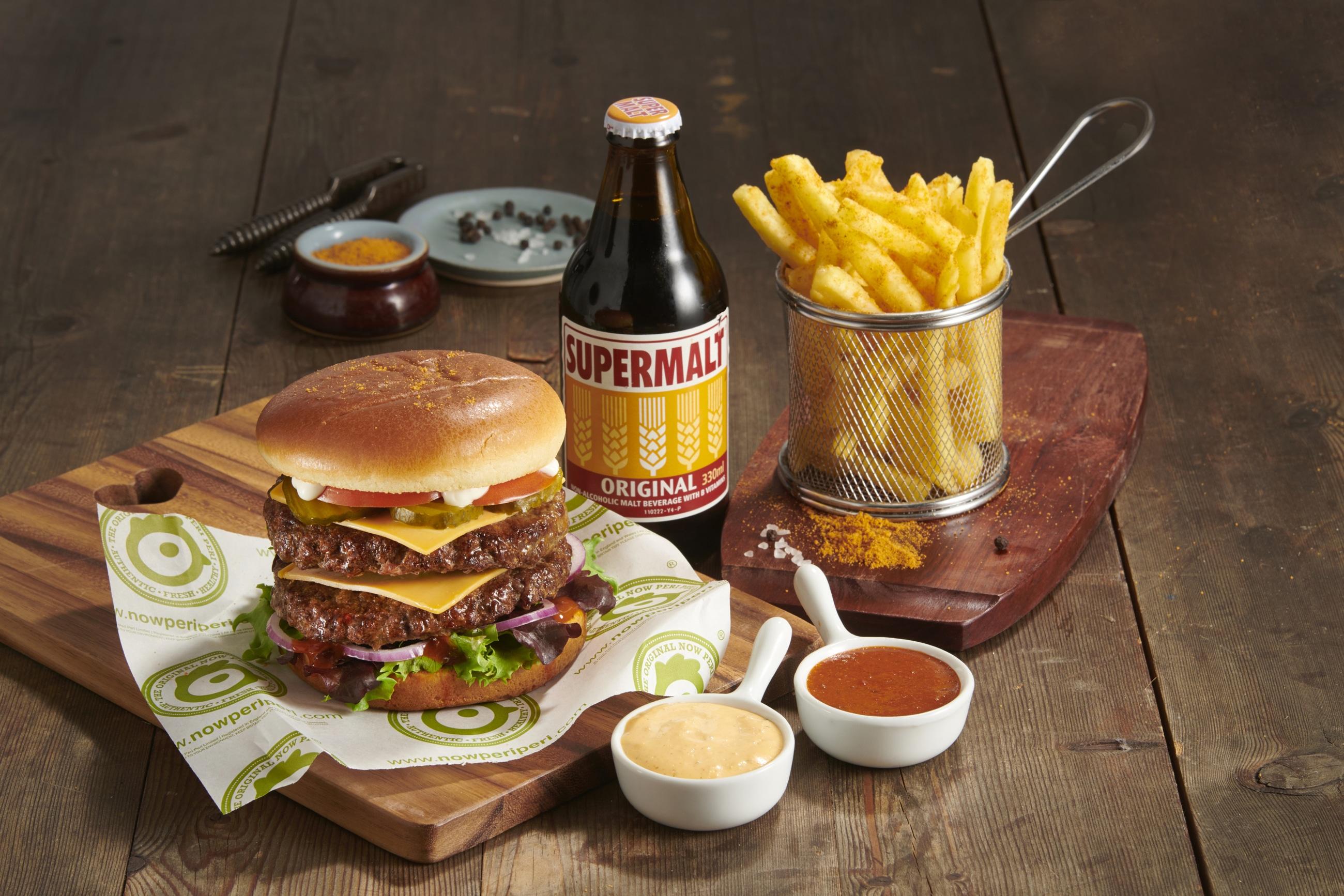 Now Peri Peri Burger Meal Supermalt