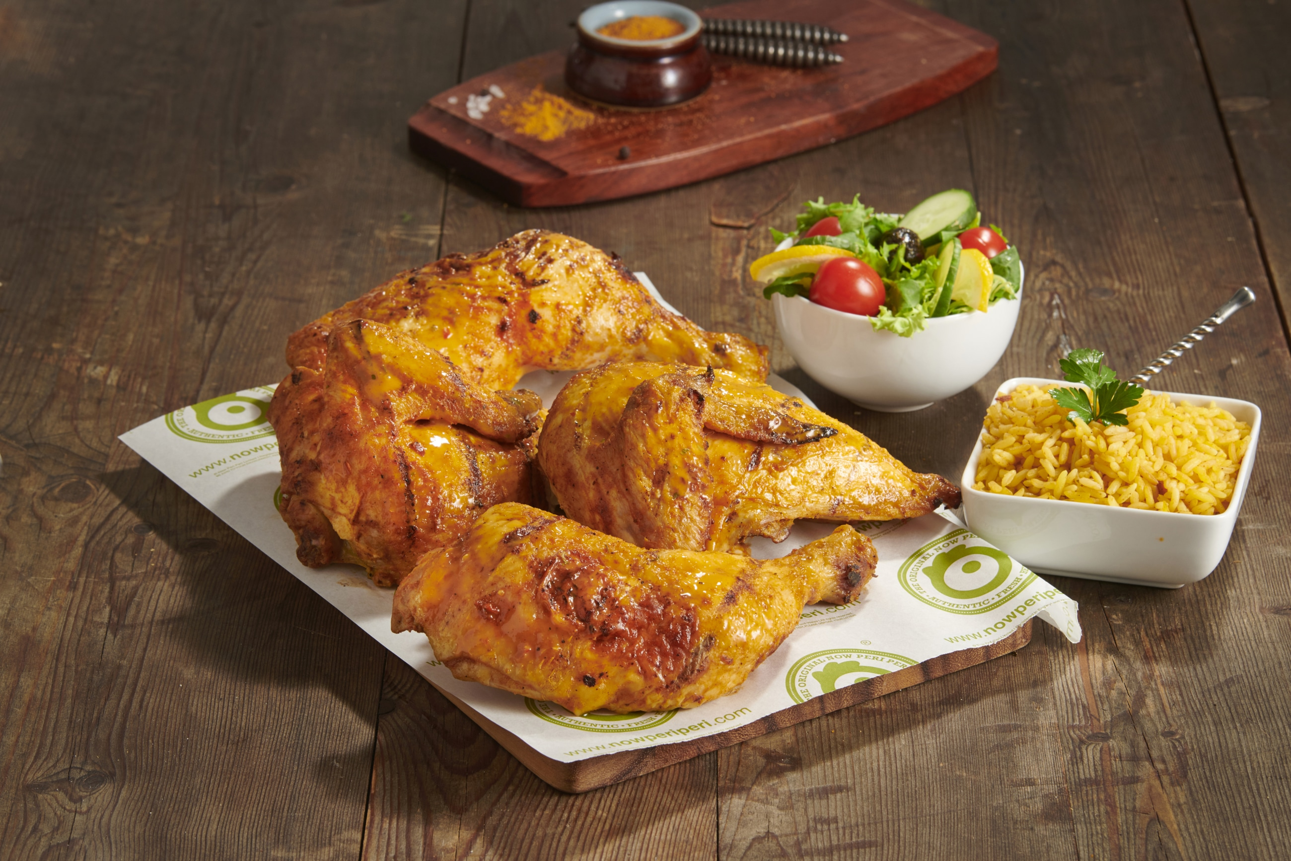 Now Peri Peri Whole Chicken Platter with 2 Sides